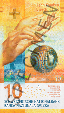 La Banca Nazionale Svizzera ha messo in circolazione il nuovo 10 franchi