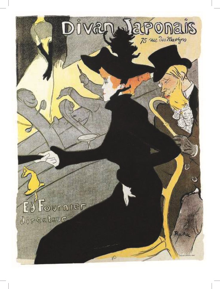 "Henri Toulouse-Lautrec, nobile ""bohémien"" fondatore del manifesto pubblicitario."