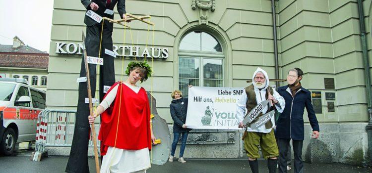 """Per la """"Moneta intera"""" al popolo svizzero si presenta un'iniziativa molto esigentedella coalizione rosso-verde e del sindaco"""