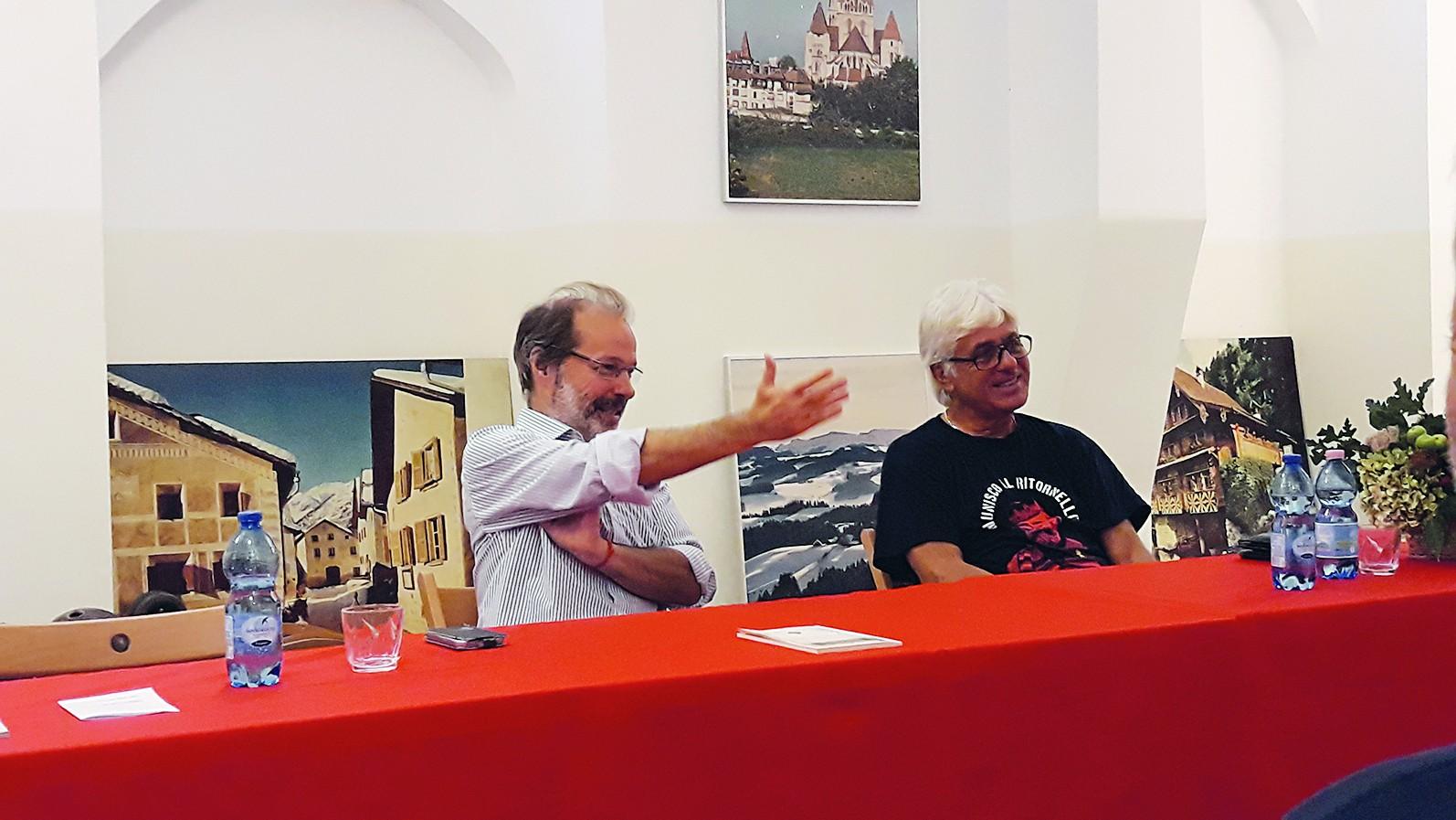 Fabrizio Calzìa (a sin.) con Claudio Onofri.