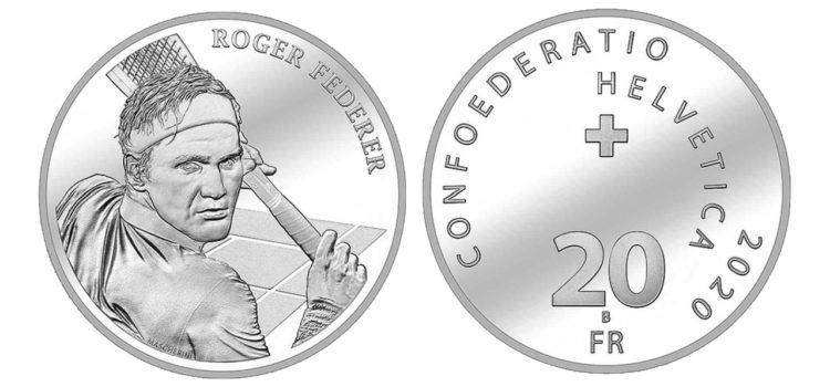 Federer: dedicata una moneta commemorativa alla leggenda vivente