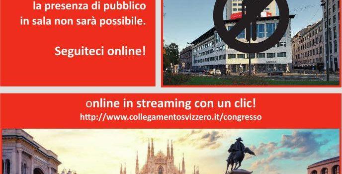 82° CONGRESSO 2021 del Collegamento Svizzero in Italia 12 giugno 2021 In streaming